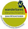 Haus hat das Gütesiegel »Qualitätsgastgeber Wanderbares Deutschland«