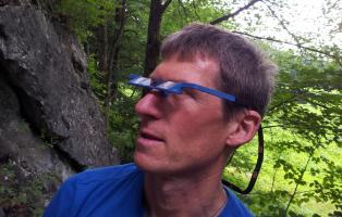 Sichern im Bergsport mit Prismenbrille