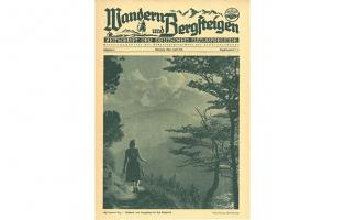 Cover Wandern und Bergsteigen Erstausgabe 1949