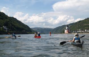 Faltboottour durchs Mittelrheintal