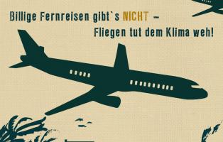 Sharepic zur Sensibilisierung zu Flugreisen