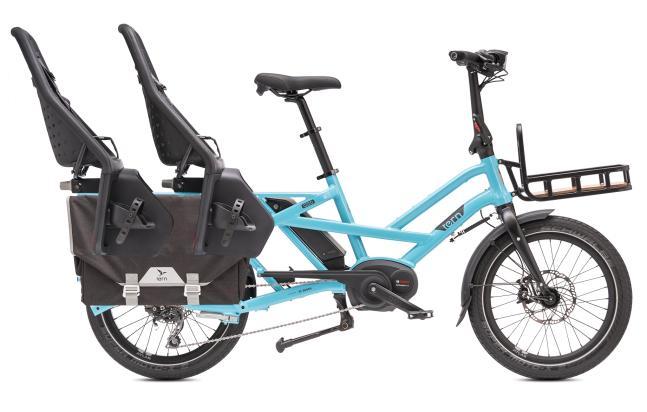 """Das """"Tern GSD"""" (Family) ist E-Lastenrad, Tourenvelo, Kindertaxi und Hingucker in Einem und dabei auch noch kürzer als ein Hollandrad – ab 3.999 Euro mit 500-Wattstunden- Akku und Seitentaschen."""