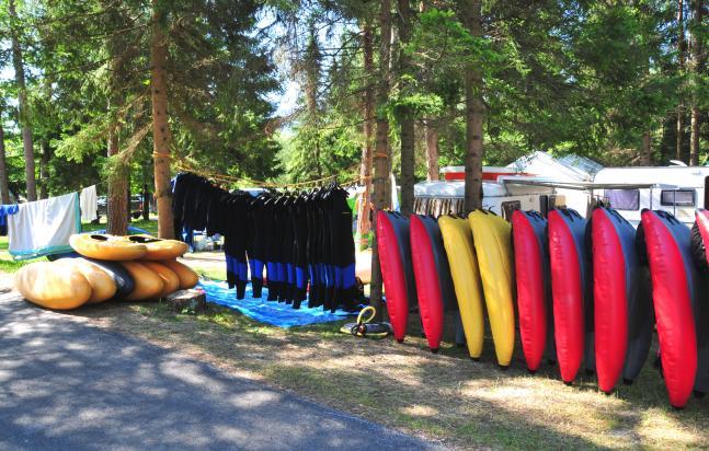 Riverbugs und Topos während des Sommercamps