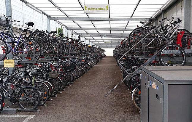 Fahrrad-Garage am Erfurter Bahnhof